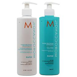 Moroccanoil Moisture Repair Shampoo Plus Conditioner, 16.9 O