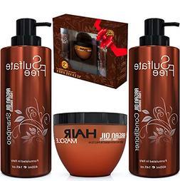 Moroccan Argan Oil Shampoo Conditioner Hair Mask Sulfate Fre
