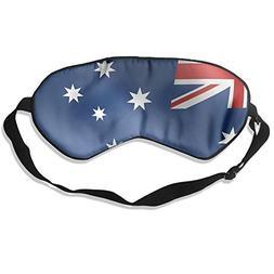 100% Mulberry Silk Sleep Mask Photo of Australia Flag Soft E
