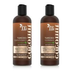 Natural Coconut Lime Shampoo & Conditioner Set w/ Aloe Vera