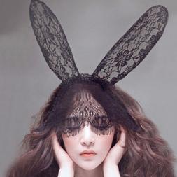 Novelty Women Hair Accessories Mask Bunny Ears 1pc Black Eye