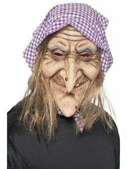 Old Man Mask Bald Head Costume Wrinkled Latex Skin Long Gray