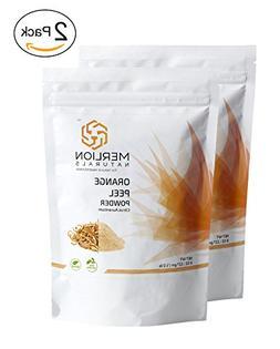 Orange Peel Powder  by MERLION NATURALS - 227 g / 8 OZ / 1/2