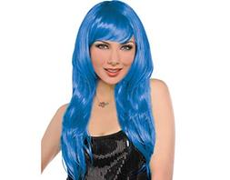 Amscan Synthetic Hair Party Perfect Team Spirit Glam Long Wi