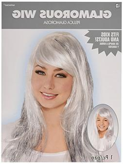 Amscan Perfect Team Spirit Glam Long Wig Accessory Synthetic