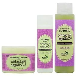 "Pistachio & Collagen Shampoo + Leave In Cream + Masque ""Set"""