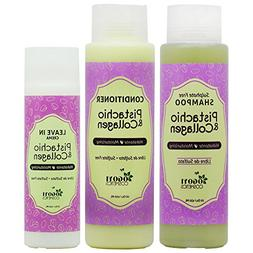 Pistachio & Collagen Shampoo + Conditioner + Leave in Crème