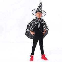 Pumsun Halloween Kids Costume Adult Children Baby Wizard Wit
