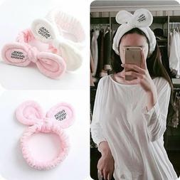Big Bow Headband Hair Ropes Mask Soft Hair Band Women Face W