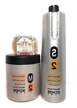 Echos Line S2 Hydrating Shampoo 33.8 Oz and M2 Hydrating Mas