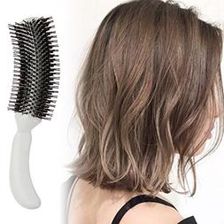 1 Sets Combs Hairbrush Plastic Handle Round Teeth Wavy Roll