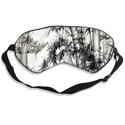 Oh-HiH 100% Silk Eye Mask Ink Bamboo Painting Sleeping Blind