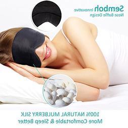 Silk Sleep Mask, Semboh Natural Eye Mask for Sleeping, Super