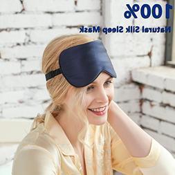 ZIMASILK 100% Natural Silk Sleep Mask,Adjustable Super-Smoot