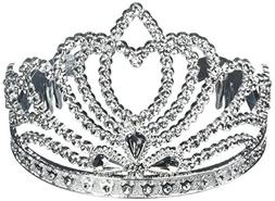 Sparkling Princess Tiara Party Accessory, Silver, Plastic ,