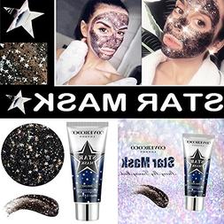 Inverlee New Star Mask Bling Glitter Face Peel Off Facial Ma