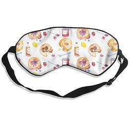 Strawberry Jam Bread Art Sleep Eyes Masks - Comfortable Slee