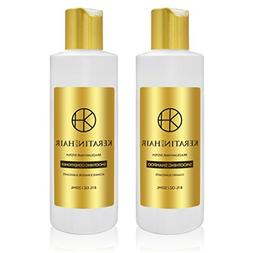 Keratin for Hair Smoothing Sulfate Free Shampoo & Conditione