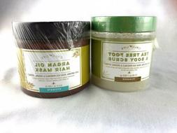 Calily Life Tea Tree Foot & Body Scrub & Argan Oil Hair Mask