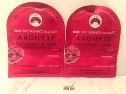 TWO 2 x Sephora Rose Hair Sleeping Mask + Hair Cap NEW & AUT
