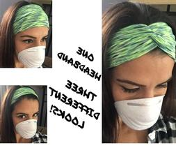 US Headband With Buttons For Face Mask/Nurses Womens Turba
