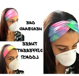 US Headband With Buttons For Face Mask, Nurses Women's Tur
