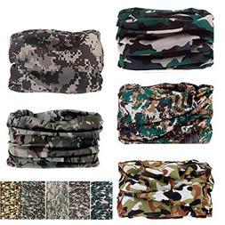 WONBURY 5 PCS UV Headwear Versatile Outdoors Head Wrap,Neck