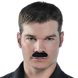 Wacky Facial Hair Black Moustache Costume Accessory, Self Ad