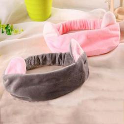 Women Elastic Hair Band Cute Cat Ears Headband Face Mask Hai