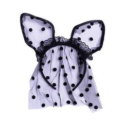 Women's Sexy Bunny Ears Headband Dots Hair Band Masquerade D